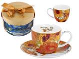 Vincent Van Gogh Kaffee Set Sunflowerst + Karton 280ml Tasse + 15cm UT