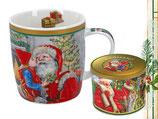 Christmas mug Weihnachten Tasse + Geschenkdose 350ml Becher Weihnachtsmann 9046