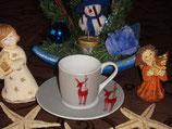 Reindeer Winter Seasons Espresso Set
