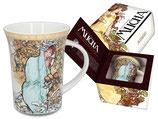 Alphonse Mucha - Winter Becher Tasse + Geschenkkarton 0,3L 300ml
