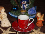 Snowflakes Winter Seasons Espresso Set