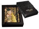 Gustav Klimt Notizbuch Der Kuß Kuss 14x21cmcm + Karton Kiss Notebook 96 Seiten