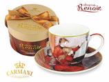 Pierre Auguste Renoir Kaffee Set  + Karton 280ml Tasse + 15cm UT The Piano Lesson