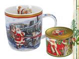 Christmas mug Weihnachten Tasse + Geschenkdose 350ml Becher Weihnachtsmann 9047