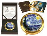 Vincent van Gogh Starry Night Taschenspiegel 7,5cm Metall Glas + Karton Sternennacht