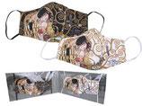2 Stück Gustav Klimt Gesichts Nasen Mund Masken Stoffmaske Polyester Mundbedeckung Der Kuß 021-9781