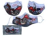 Harley Davidson Motiv Gesichts Nasen Mund Maske Stoffmaske Polyester Mundbedeckung Motorrad bunt 021-9873
