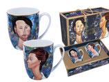 2 Becher Leopold Zborowski + Lunia Czechowska Amedeo Modigliani + Karton 400ml