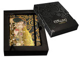 Gustav Klimt Notizbuch Der Kuß Kuss 10,5x14,5cm + Karton Kiss Notebook 96 Seiten