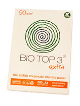 Briefpapier Bio Top.  Eenzijdig full colour bedrukt.