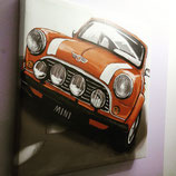 Quadro in canvans Mini cooper 38x38