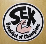 Sticker Sex Breakfast of Champions