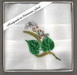"""Taschentuch mit Stickerei """"Lindenblüte"""""""