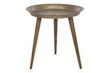 Side table metaal met houten poten