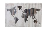 Houten wereldkaart panelen