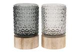 Kaarsenstandaard glas 2 stuks