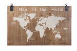 Houten wereldkaart 118*78*4 cm