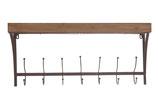 Metalen houten kapstok