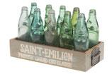 Vintage krat met 10 flessen