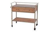 Side table van hout en metaal