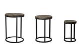 Side table metaal/hout 3 stuks