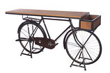 Vintage iron cycle coffee table