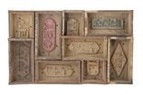 Vintage letterbak van steenmallen