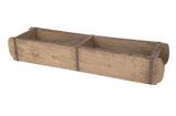 Vintage houten dubbele brick mould