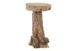 Teak houten barkruk