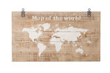 Houten wereldkaart 140 x 80 cm
