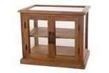 Vintage hout/glas vitrinekast