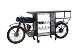 Motorcycle bar table metal