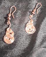 Aretes de plata con espiral