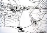 Pueblo pesquero (Skizze)