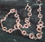 Silber Spiralen Kette