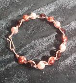 Pulsera de perlas con alambre de plata fija