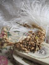 Antiker Brautkranz aus Wachsknospen Frankreich 19. Jahrhundert