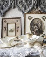 Aus der Puppenstube: Alte Keramik Sauciere + Tarteständer Frankreich