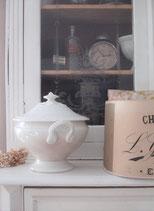 Shabby: Antike Keramik Terrine Frankreich 19. Jahrhundert
