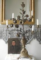 Antiker riesiger Lilienleuchter / Altarleuchter aus Frankreich