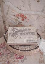 Dekorative alte Pappschachtel Fotografien aus Frankreich