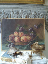 Stimmungsvolles antikes Ölbild aus Frankreich