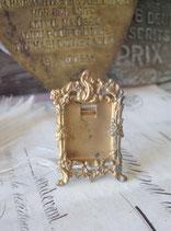 Antiker Mini Rahmen Messing Stil Louis XV Frankreich