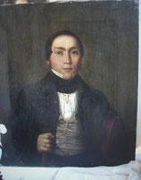 Antikes Herren Porträt - Öl auf Leinen