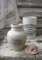 Shabby: Alter Keramik Vorratstopf aus England 1900