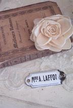 Altes französisches Namensschild Metall Emaille