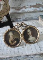 Antiker 2-er Messing Bilderrahmen Louis XVI Frankreich