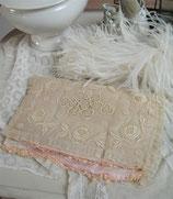 Zauberhafter antiker Tüll Taschentuchbehälter Frankreich