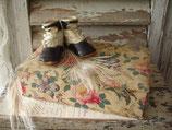 Dekorative alte florale Stoffschachtel Frankreich