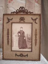 Antiker großer Messing Rahmen Bekrönung um 1890